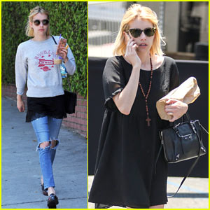 Emma Roberts Jokes Around with a Friend on Instagram!