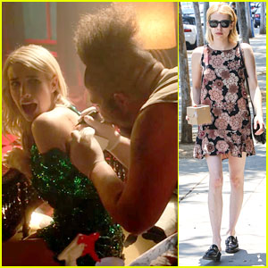 emma roberts strips down to lingerie in �nerve� trailer