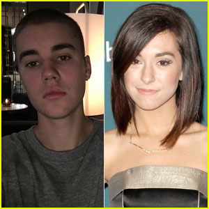 Justin Bieber Sings to Christina Grimmie on Stage (Video)