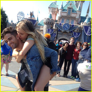 Max Ehrich & Veronica Dunne Pack on the PDA at Disneyland!