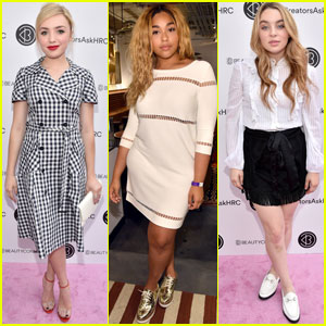 Peyton List & Other Celebs Support Hillary Clinton at Digital Creator Town Hall