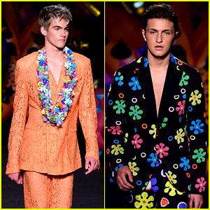 Presley Gerber & Anwar Hadid Walk in Their First Fashion Show!