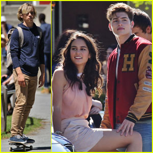 Ross Lynch Films 'Status Update' With Gregg Sulkin & Courtney Eaton!