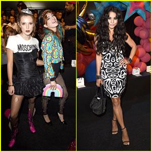 Bella Thorne Wears Tiara For Moschino Made LA Fashion Show With Vanessa Hudgens