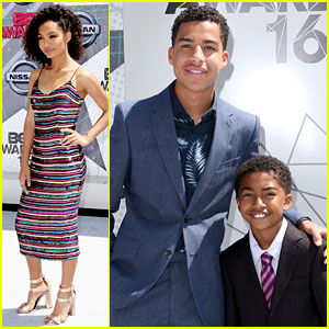 Yara Shahidi & Her 'Black-ish' Bros Attend BET Awards 2016