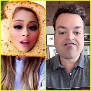 Ariana Grande Duets with Jimmy Fallon Over Snapchat!