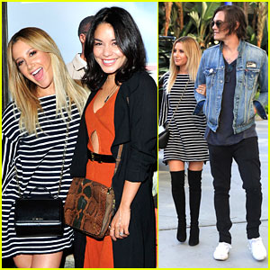 Ashley Tisdale Meets Up with Vanessa Hudgens For Selena Gomez's Concert in LA
