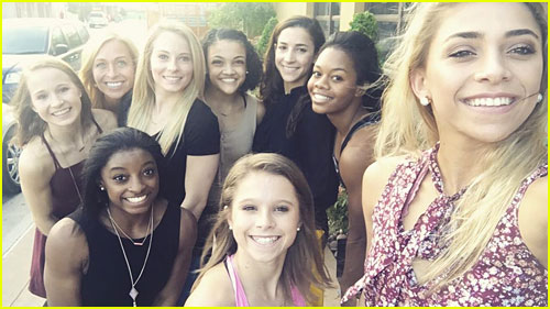 Simone Biles, Laurie Hernandez & The US Women's Gymnastics Team Have Dinner Out In Rio - See The Team Pic!
