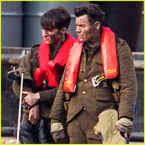 Harry Styles Gets Covered in Mud While Filming 'Dunkirk'