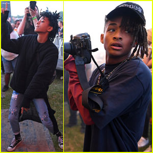Jaden Smith & His Fam Celebrate His B-Day at Wireless Festival