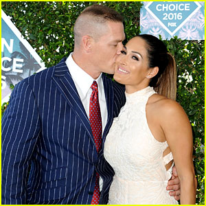 Teen Choice Host John Cena Walks Red Carpet with Girlfriend Nikki Bella