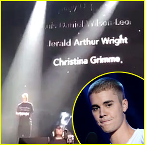 Justin Bieber Uses Orlando Concert to Remember Christina Grimmie & Pulse Shooting Victims