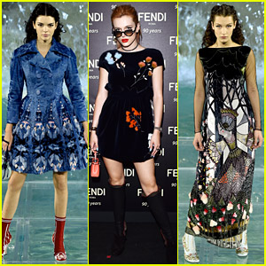 Bella Thorne Watches Kendall Jenner & Bella Hadid in Fendi Show!