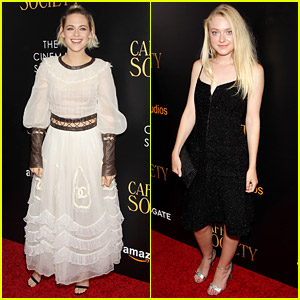 Kristen Stewart & Dakota Fanning Reunite at 'Cafe Society' Premiere