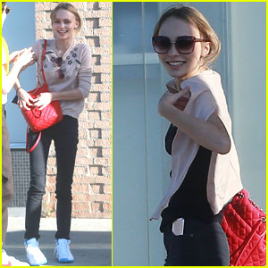 Lily-Rose Depp Grabs Lunch With a Friend in Los Angeles
