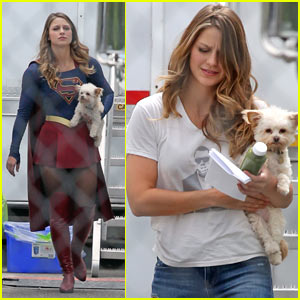 Melissa Benoist Starts Filming Season 2 of 'Supergirl'!