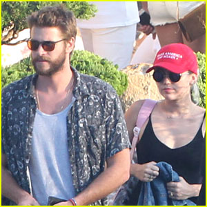 Miley Cyrus & Liam Hemsworth Couple Up for Malibu Dinner