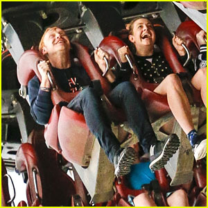 Rupert Grint & Georgia Groome Hit Thorpe Park For Day of Fun