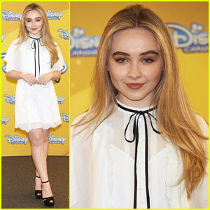 Sabrina Carpenter Promotes 'Adventures in Babysitting' in Spain