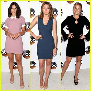 Chloe Bennett, Aimee Teegarden & AJ Michalka Hit ABC's Summer TCA Tour Party