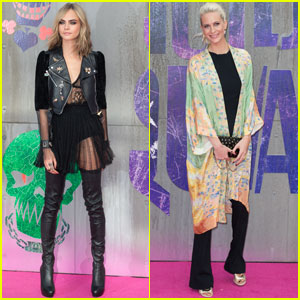 Cara Delevingne Gets Support From Sister Poppy at 'Suicide Squad' Premiere