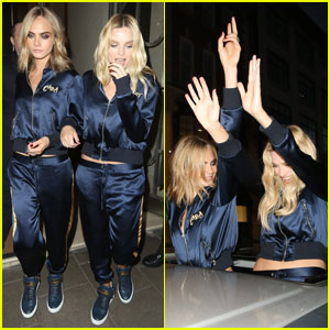 Cara Delevingne Wears Matching Tracksuits With 'Suicide Squad' Co-Star Margot Robbie!