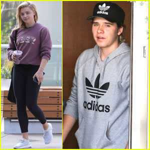 Chloe Moretz & Brooklyn Beckham Workout With His Dad David