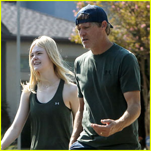 Elle Fanning Gets in an Early Morning Workout with Her Dad!