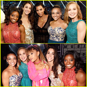 Final Five Meet Ariana Grande Backstage at MTV VMAs 2016!