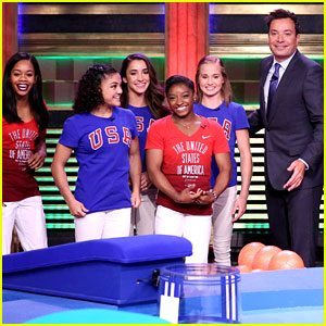 Simone Biles, Aly Raisman & Final Five Play Life-Size Hungry Hungry Hippos Game!