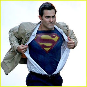 Tyler Hoechlin Rips Off Street Clothes for Superman Action Scene!