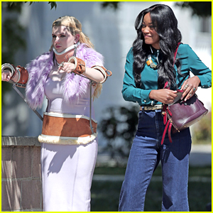 Abigail Breslin Wears Upper Body Brace on 'Scream Queens' Set!