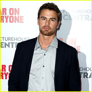 Theo James Suits Up for 'War On Everyone' UK Premiere!