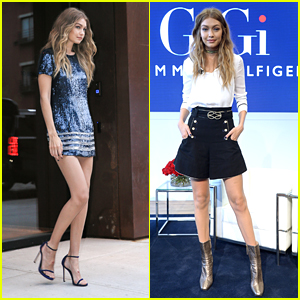 Gigi Hadid Promotes 'TommyxGigi' Fashion Collection with Tommy Hilfiger in NYC