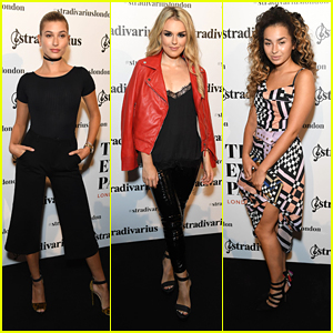 Hailey Baldwin Steps Out For The Stradivarius The Event Paper Party with Tallia Storm
