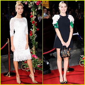 Hailey Baldwin Celebrates Milan Fashion Week with Dolce&Gabbana!
