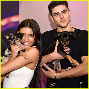 Madison Beer & Jack Gilinsky Cuddle with Puppies at iHeartRadio Festival in Vegas