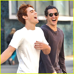 Riverdale's KJ Apa Hangs With New 'The 100' Star Chai Romruen in Vancouver