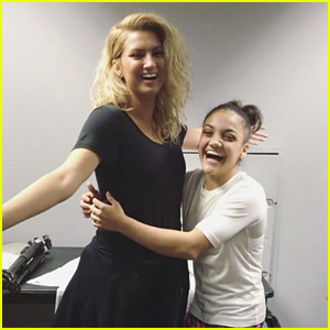 Tori Kelly Surprises Laurie Hernandez Backstage at the Kelloggs Tour Stop in LA (Video)