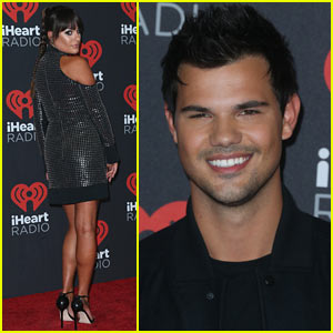Lea Michele & Taylor Lautner Party at iHeartRadio Music Festival!