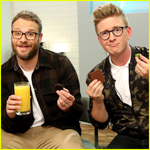 Tyler Oakley Plays 'Munchie Madness' with Seth Rogen - Watch Now!
