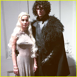 Ansel Elgort & Violetta Komyshan Make the Perfect 'Game of Thrones' Halloween Couple!