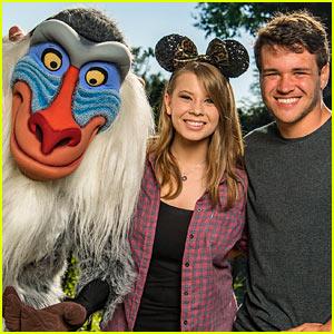 Bindi Irwin Visits Walt Disney World With Boyfriend Chandler Powell