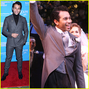 Corbin Bleu Celebrates 'Holiday Inn's Opening Night on Broadway