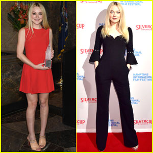 Dakota Fanning Lights the Empire State Building!