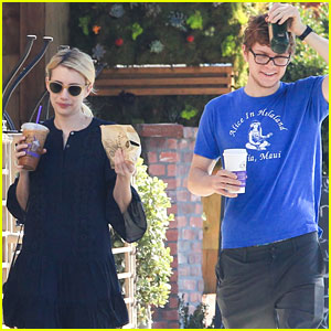 Emma Roberts & On-Again Beau Evan Peters Spend Monday Morning Together