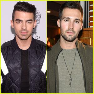 Joe Jonas & James Maslow Mingle at Men's Fitness Party