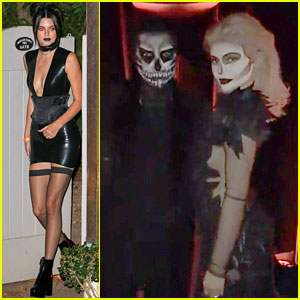 Kylie Jenner & Tyga Dress as the 'Dead' for Halloween Dinner Party!