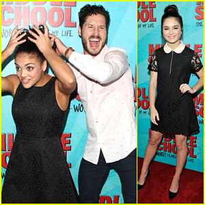 Val Chmerkovskiy Messes Up Laurie Hernandez' Hair On 'Middle School' Movie Premiere Carpet