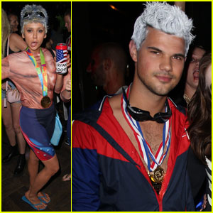 Taylor Lautner & Nina Dobrev Wear Same Costume for Halloween!